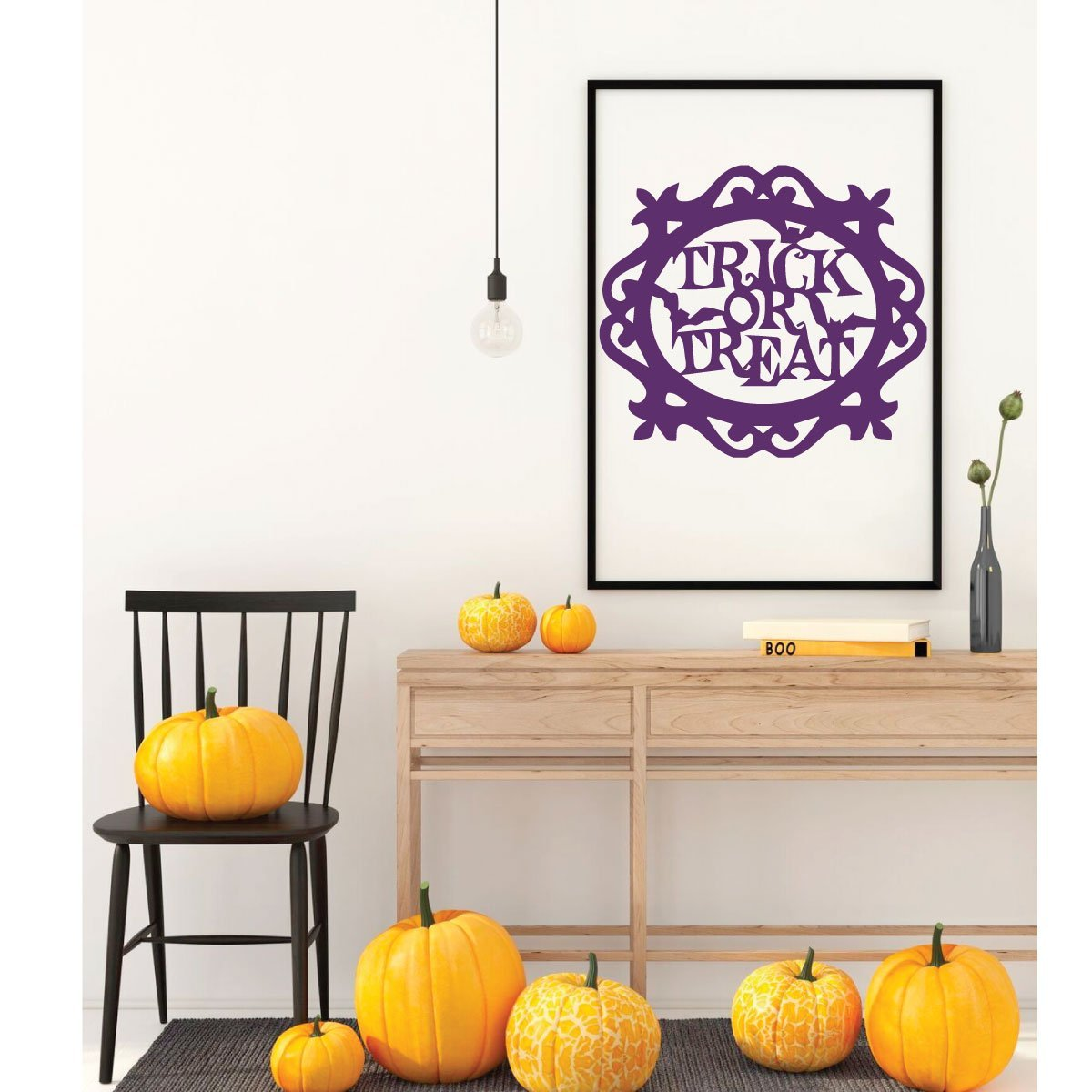 Halloween Wall Decoration Trick Vinyl Decor Wall Decal