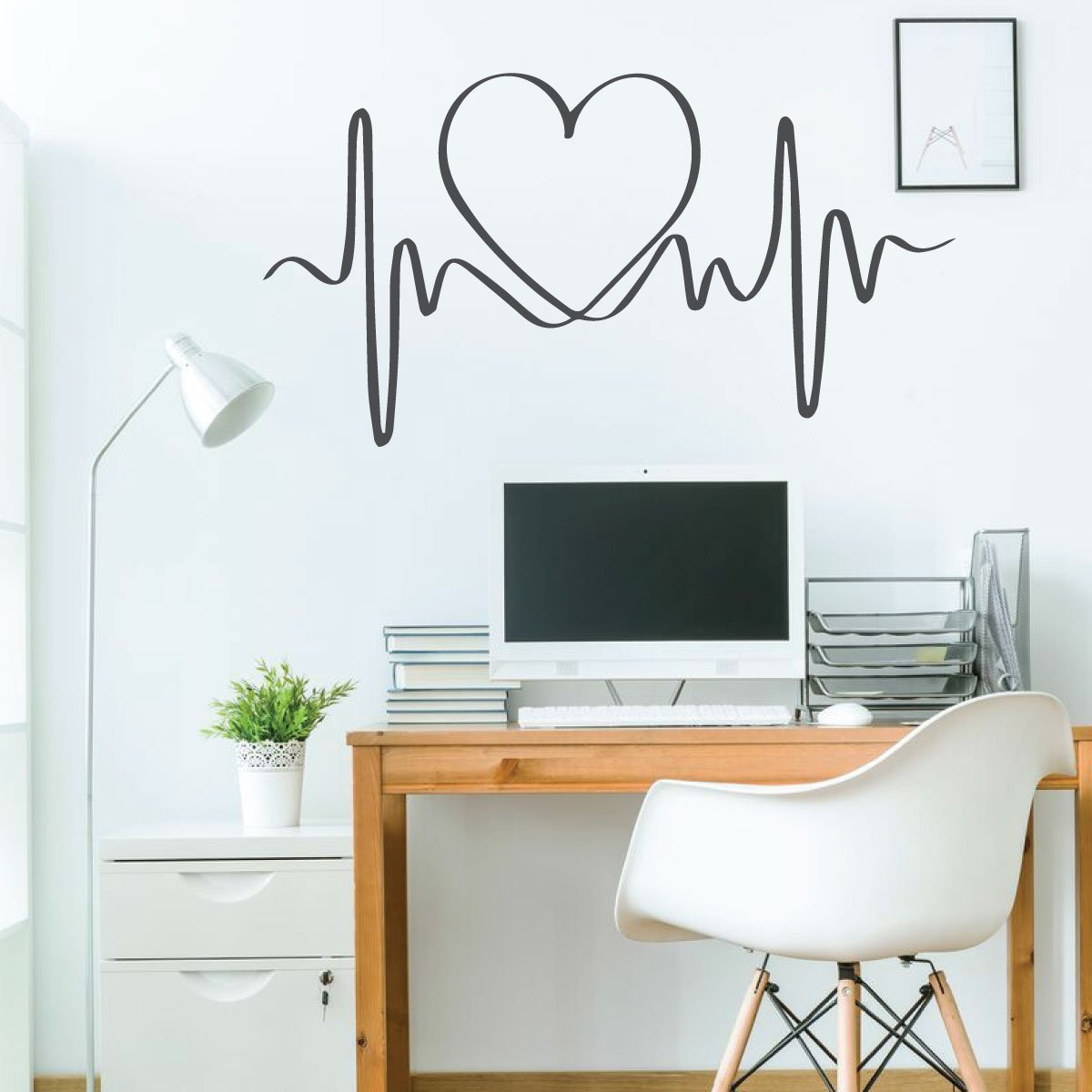 Heart Beat Design Wall Decal for Girls Bedroom Vinyl Decor