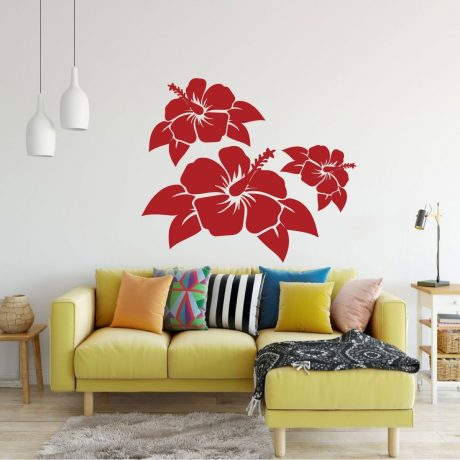 Hibiscus Flower Decals Vinyl Vinyl Decor Wall Decal