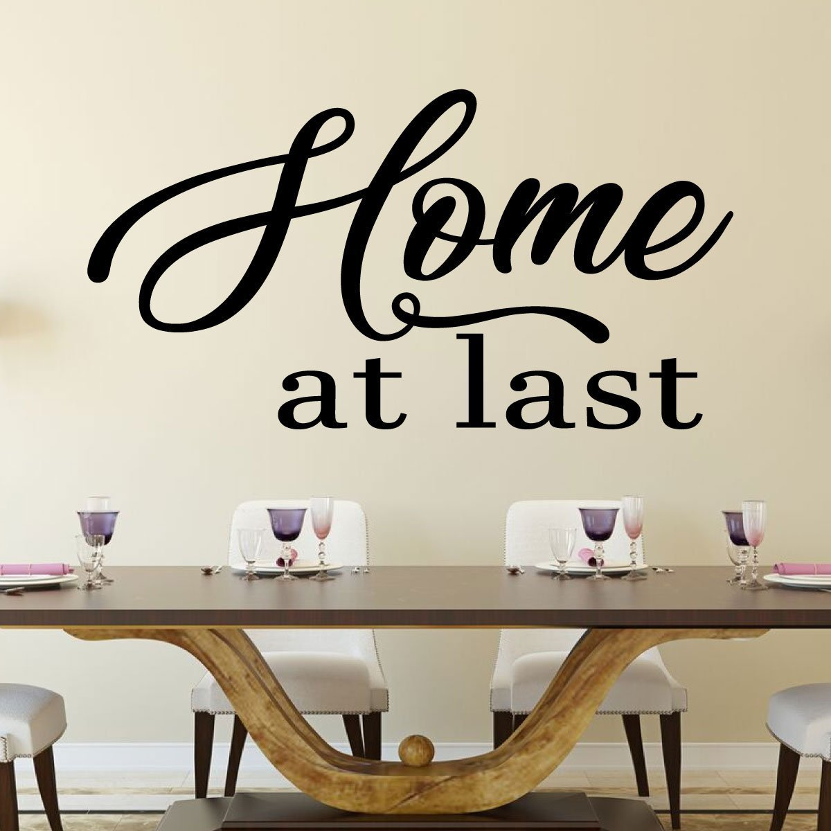 Home At Last Family Dining Room Vinyl Decor Wall Decal