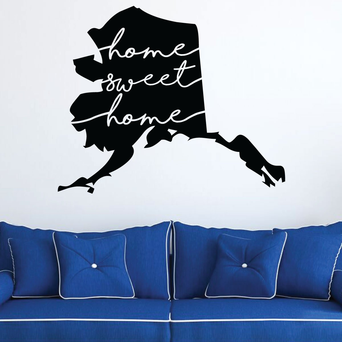 Brilliant Home Sweet Home Alaska Wall Vinyl Decor Wall Decal Home Interior And Landscaping Ologienasavecom