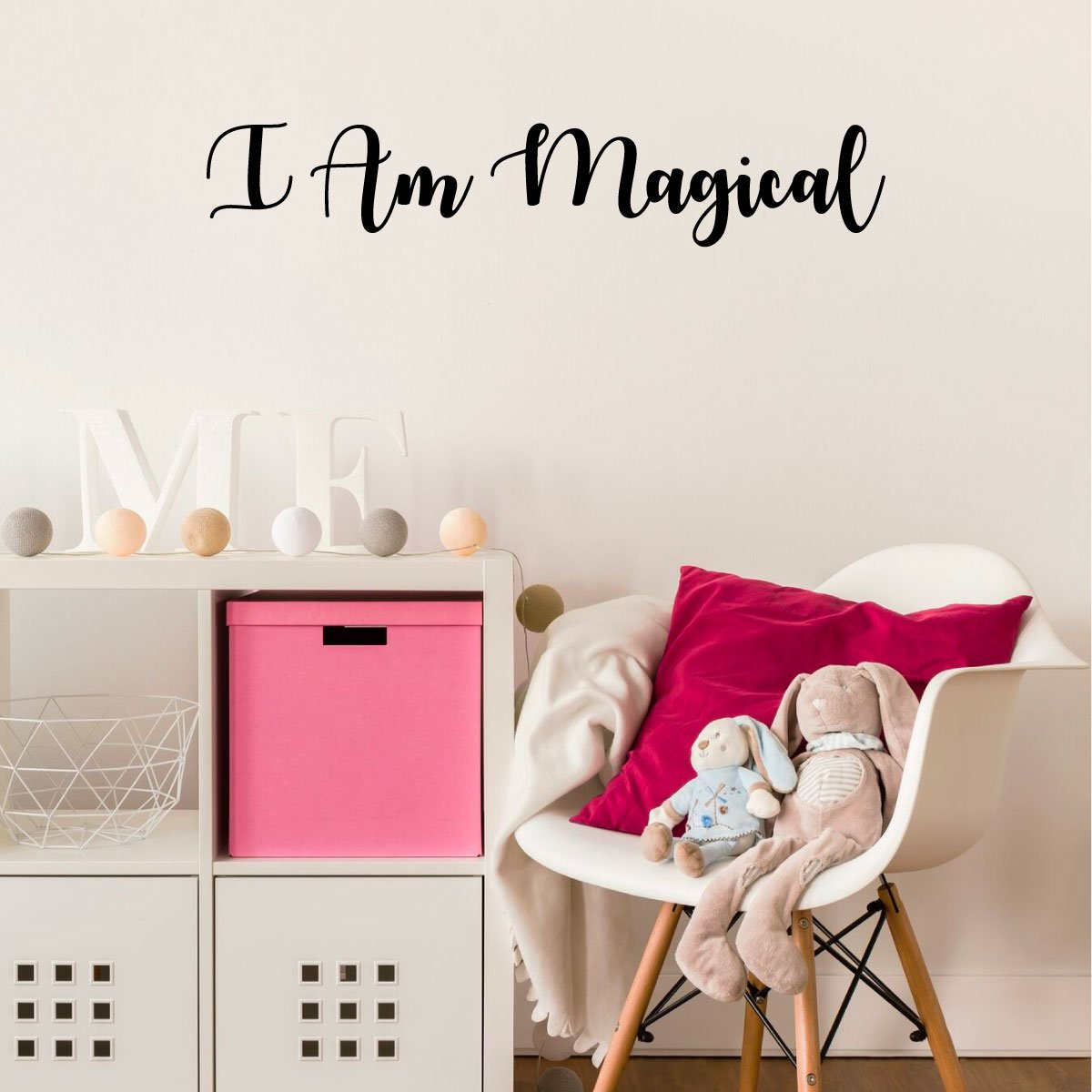 I Am Magical Wall Decal for Girls Bedroom Vinyl Decor