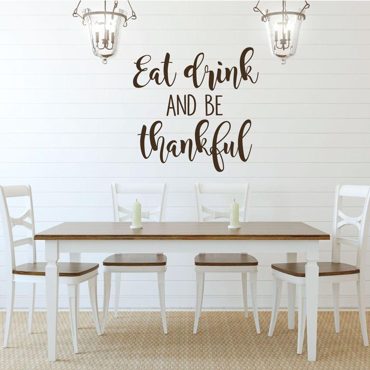 PERSONALISED KITCHEN vinyl wall art QUOTE sticker heart home eat drink