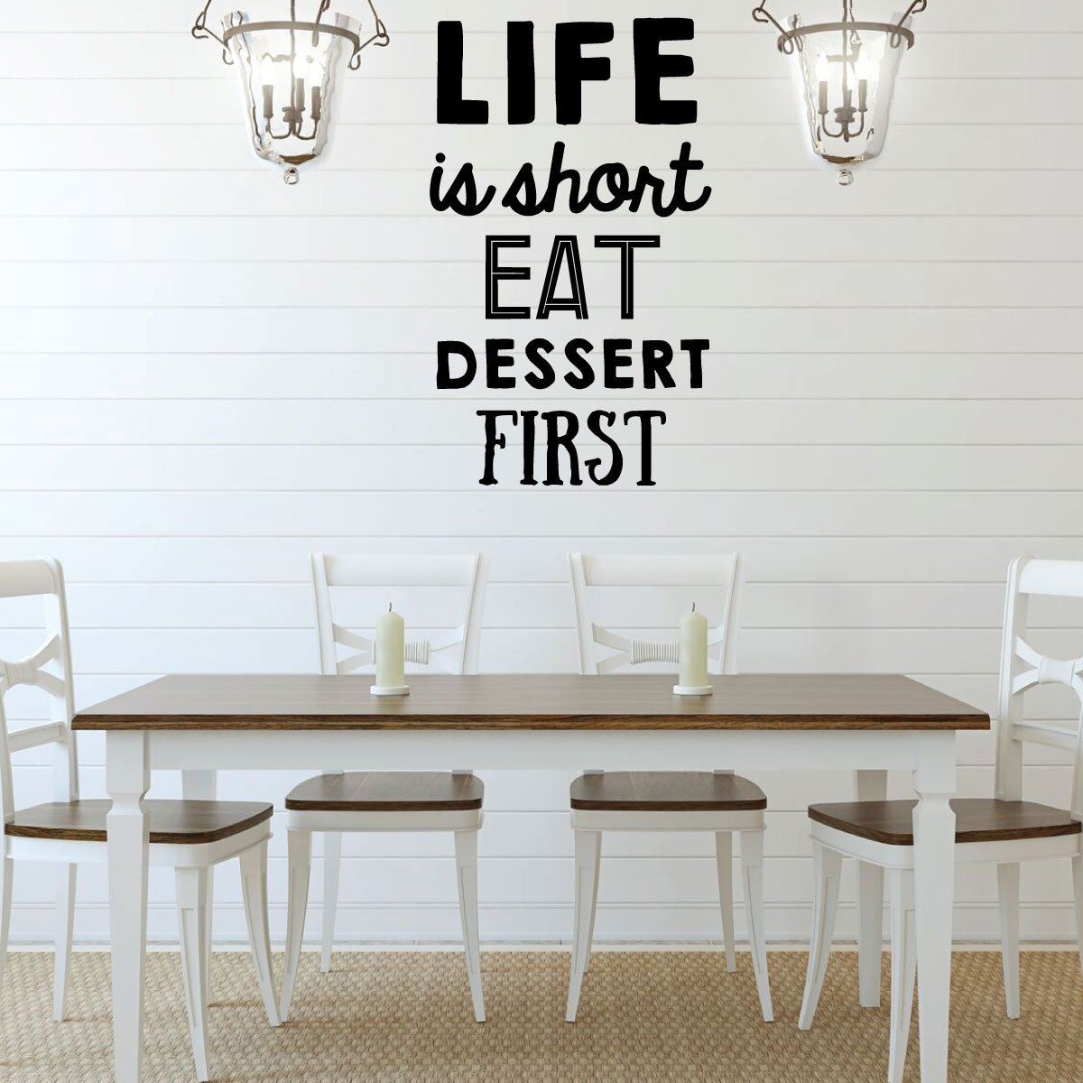 Kitchen Wall Decal Life Vinyl Decor Wall Decal