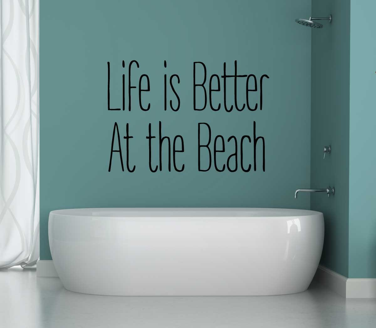 Amazon Com Cmi Ni210 Life Is Better At The Beach 3 1 2 X 7 1 2 Die Cut Vinyl Decal For Cars Trucks Windows Boats Tool Boxes Laptops Etc Automotive