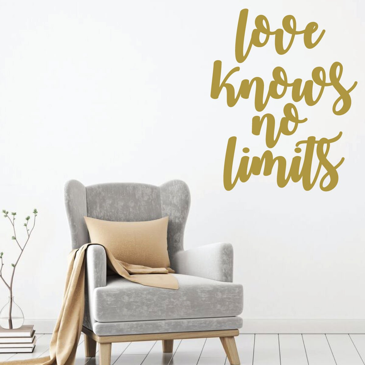Love Knows No Limits Family Romantic Wall Decal Vinyl