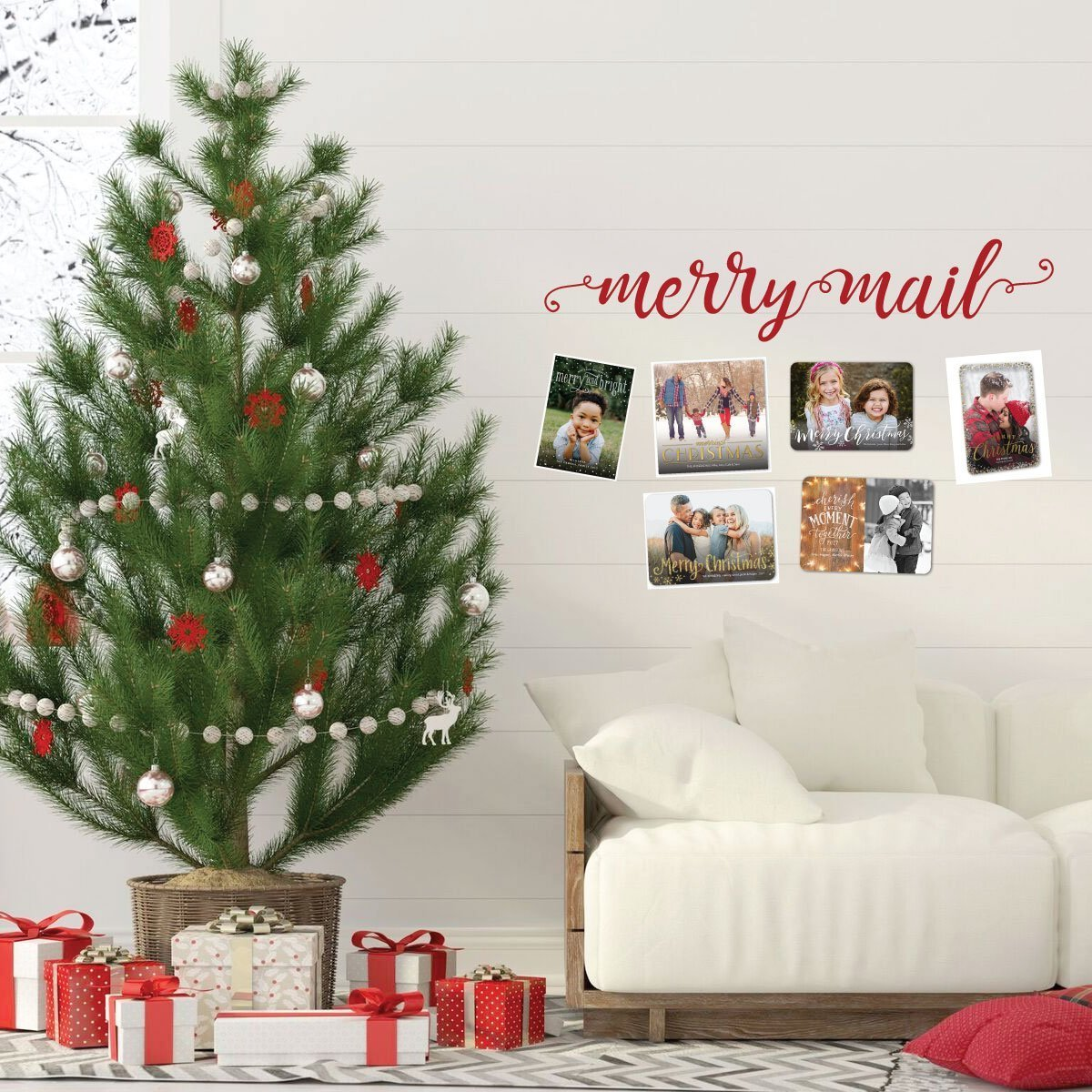 Mail On Christmas Eve 2019.Merry Mail Christmas Holiday Vinyl Decor Wall Decal