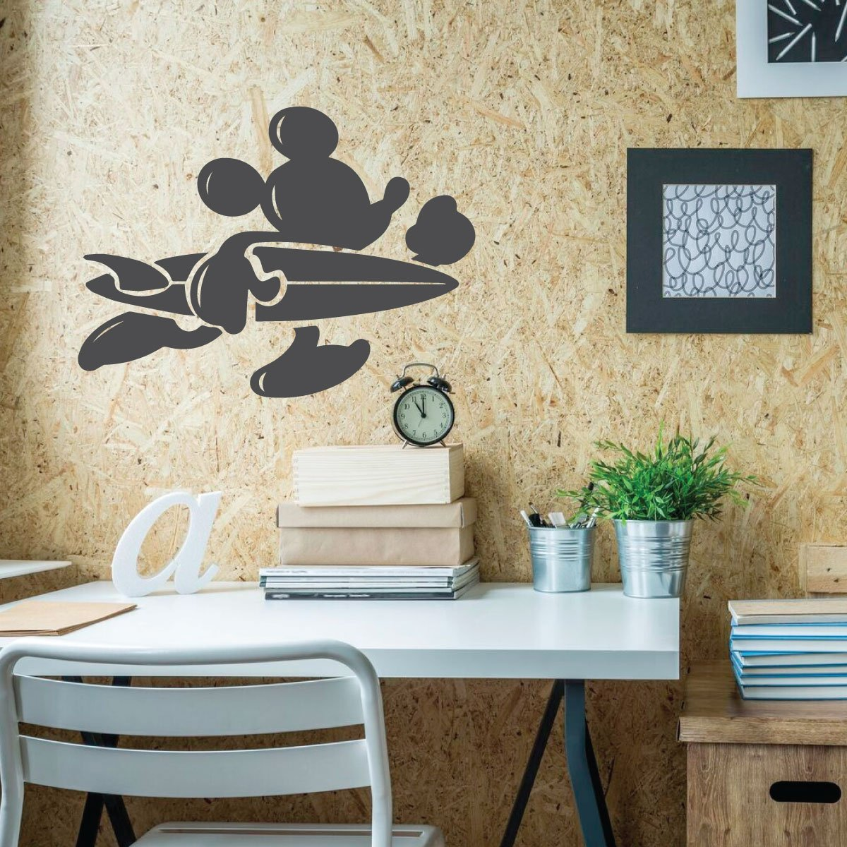 . Mickey Mouse Wall Decal Surfer Vinyl Decor Wall Decal