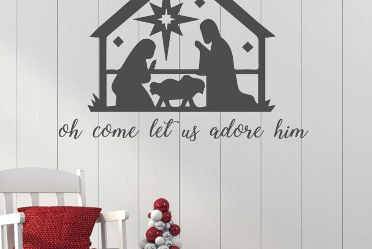 Nativity Christmas Vinyl Decal