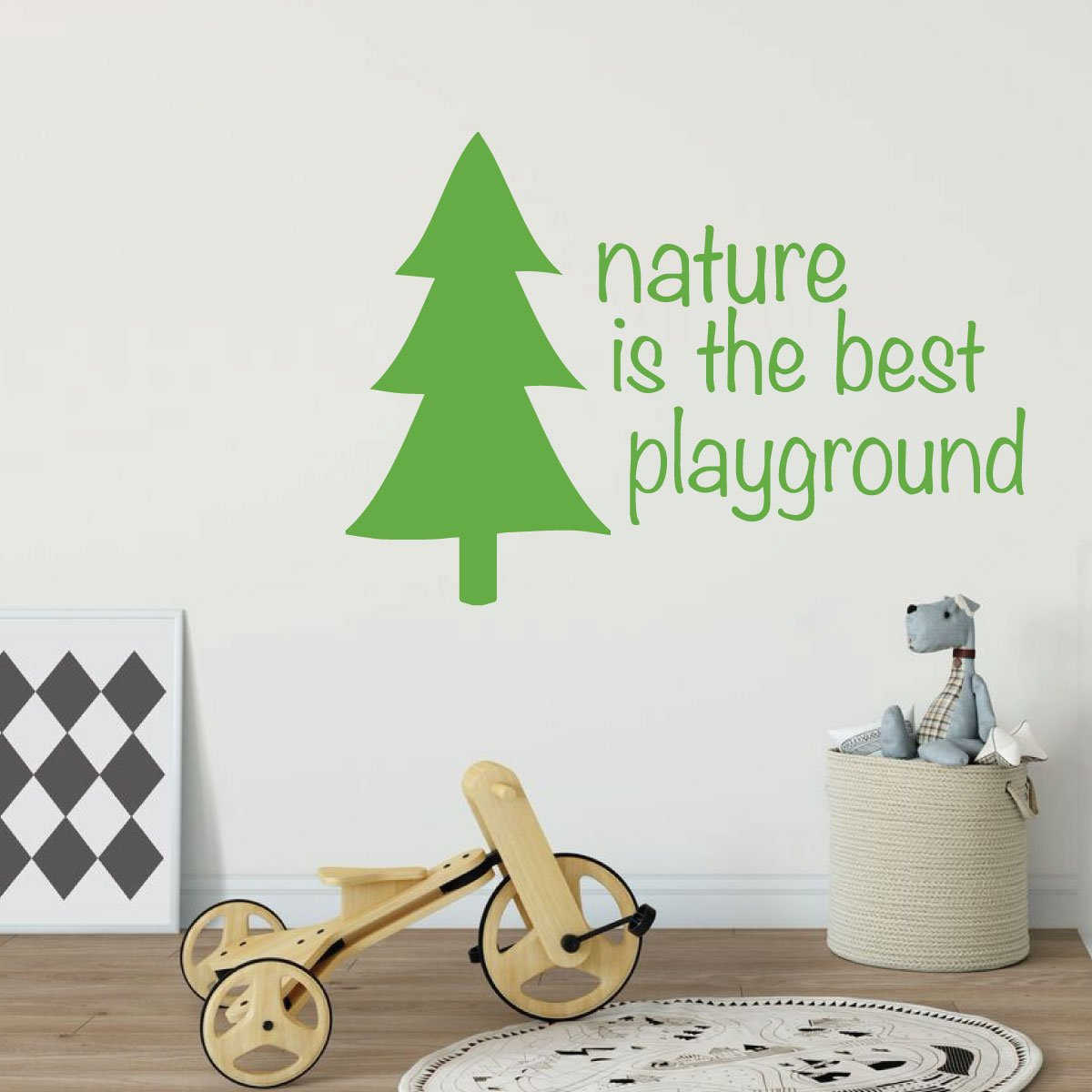 Nature Best Playground Quote Childrens Room Vinyl Decor Wall Decal