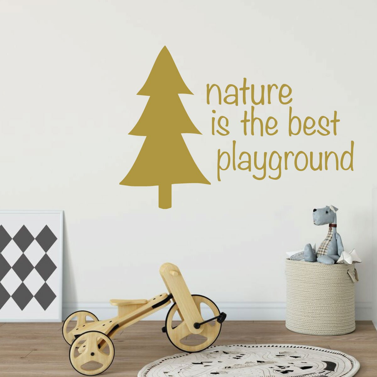 Nature Best Playground Quote Childrens Room Vinyl Decor Wall Decal ...