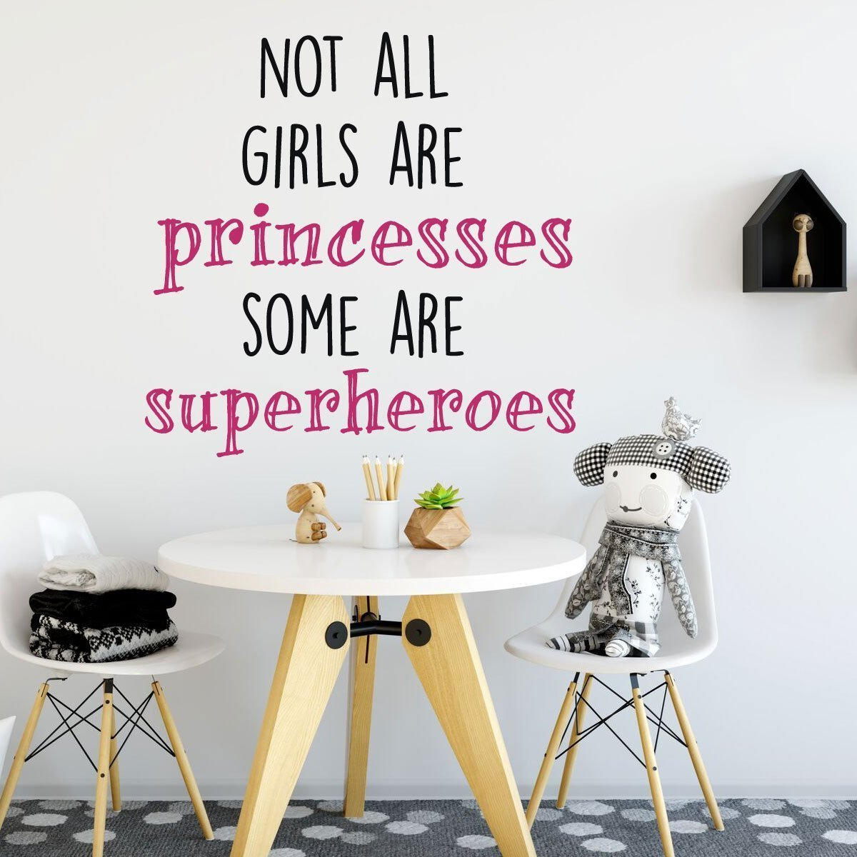Not Princesses, Some Girls Superheroes Wall Decal Bedroom Vinyl Decor