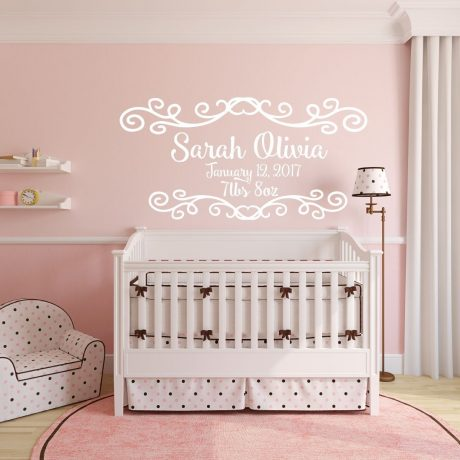 Personalized Baby Birth Vinyl Decor Wall Decal