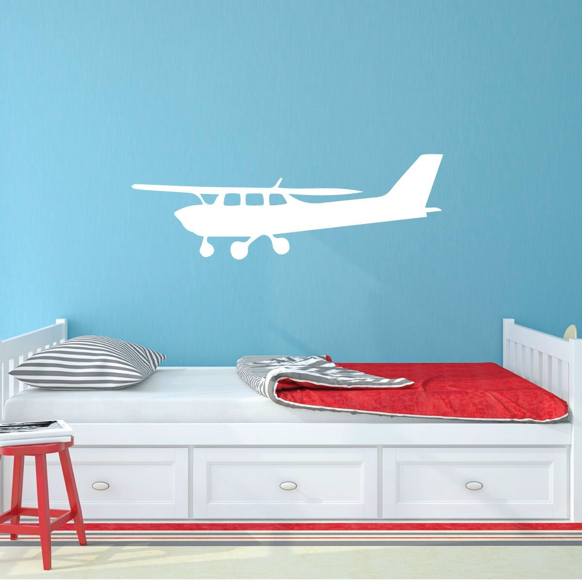 Personalized Cessna 206 Airplane Silhouette Car Decal Sticker Design