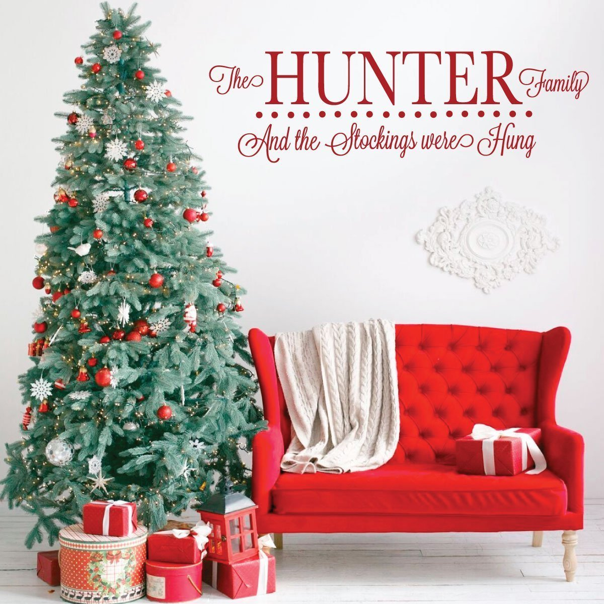 Personalized Christmas Decor.Personalized Christmas Wall Decal Vinyl Decor Wall Decal