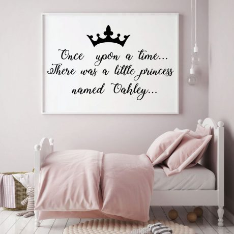 Personalized Once Upon A Time Vinyl Decor Wall Decal