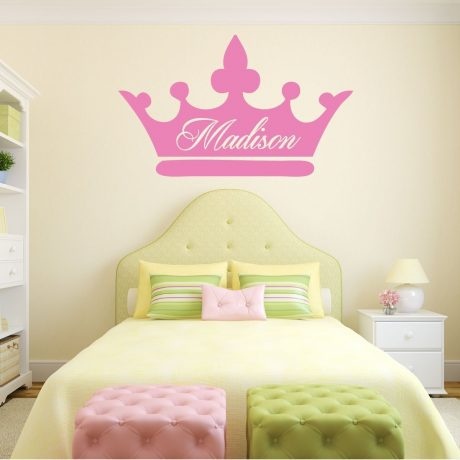 Personalized Wall Decals Girls Princess Vinyl Decor Wall Decal