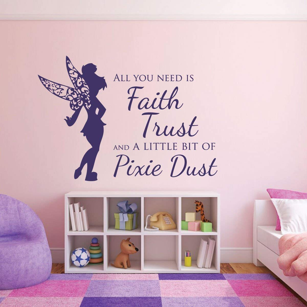 Pink Wall Decals for Girls Vinyl Decor Wall Decal