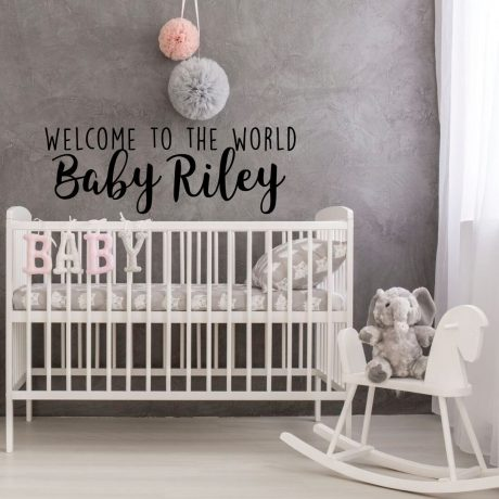 Welcome Baby Nursery Wall Decal Welcome Vinyl Decor Wall Decal ...