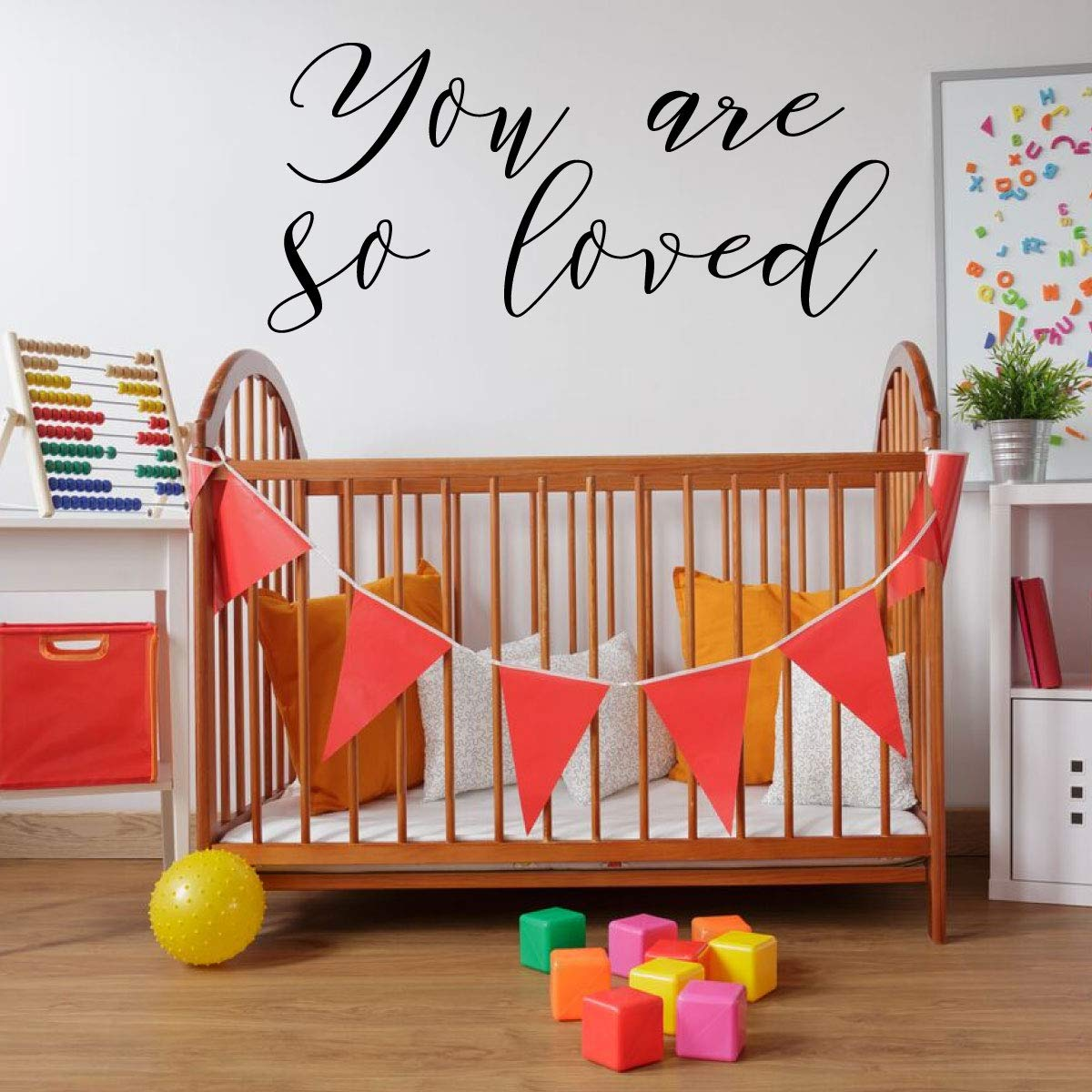 You Are Loved Quote Lettering Nursery Vinyl Decor Wall Decal