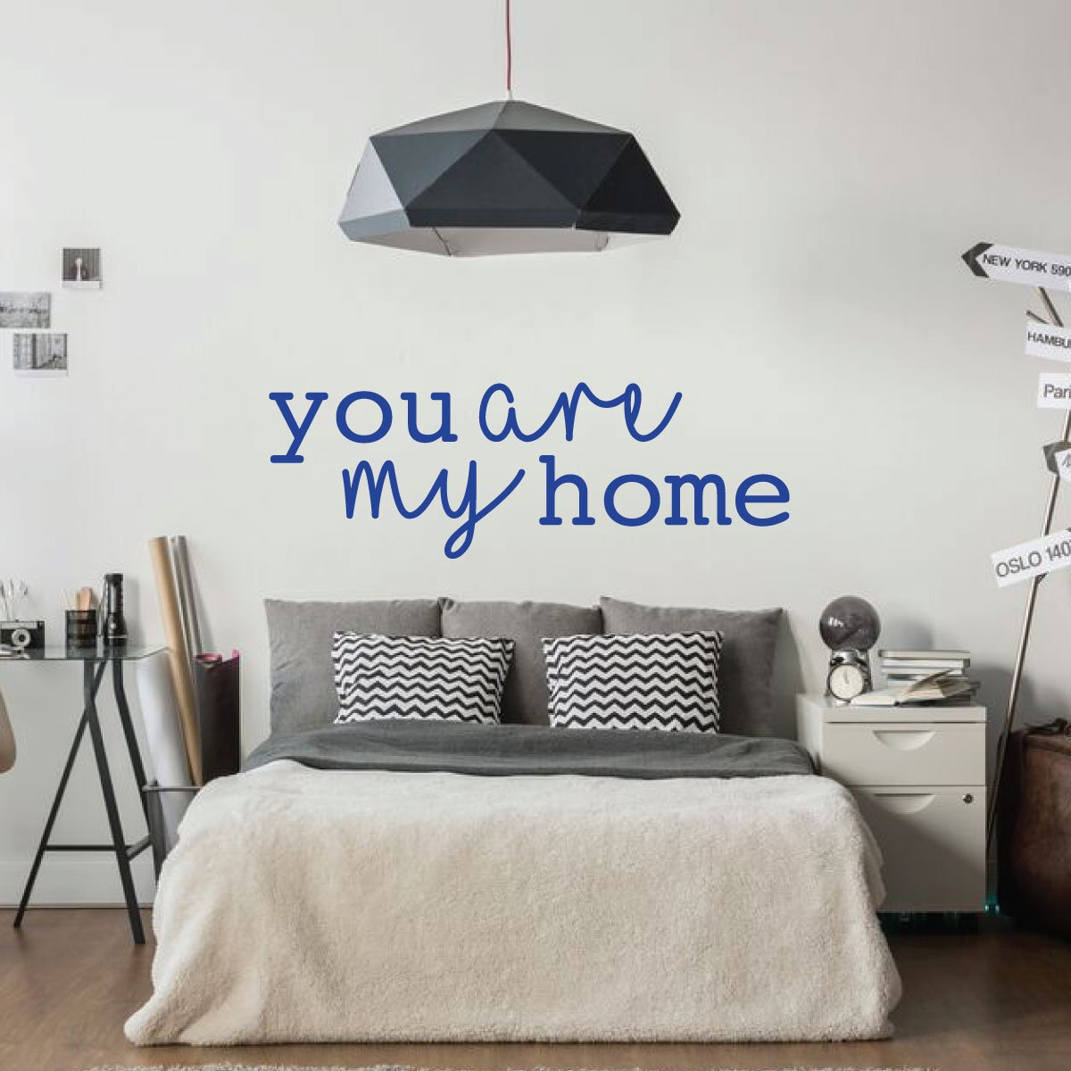 You Are My Home Quote Vinyl Lettering Bedroom Wall Decal Home Decor