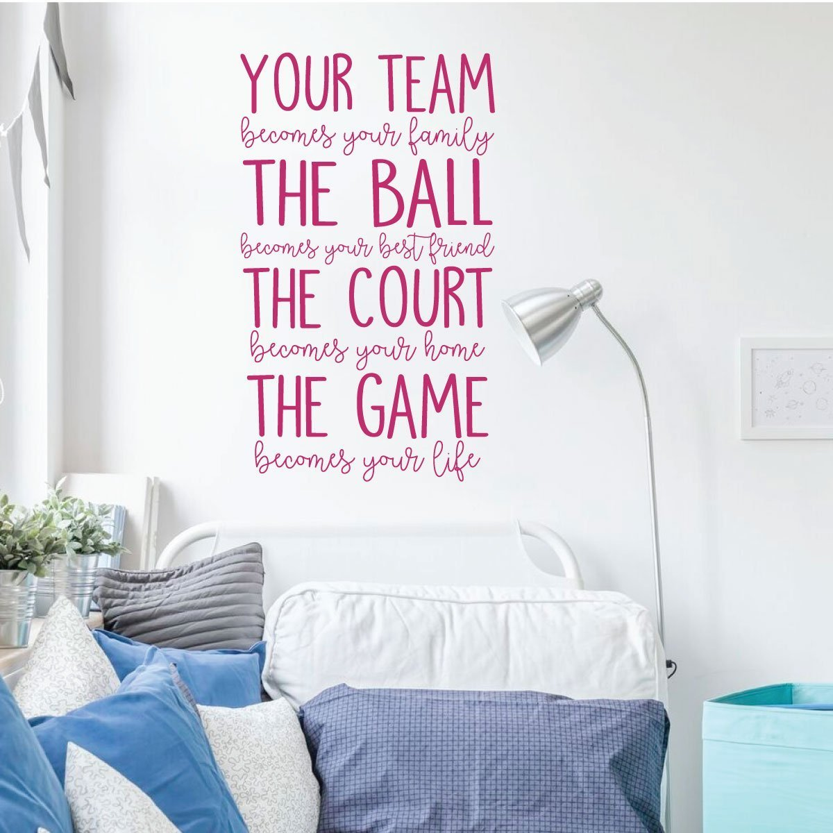 Your Team Quote Lettering Volleyball Or Basketball Wall Decal Vinyl Decor Wall Decal